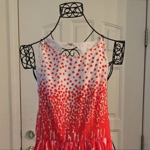 Orange/white Dress